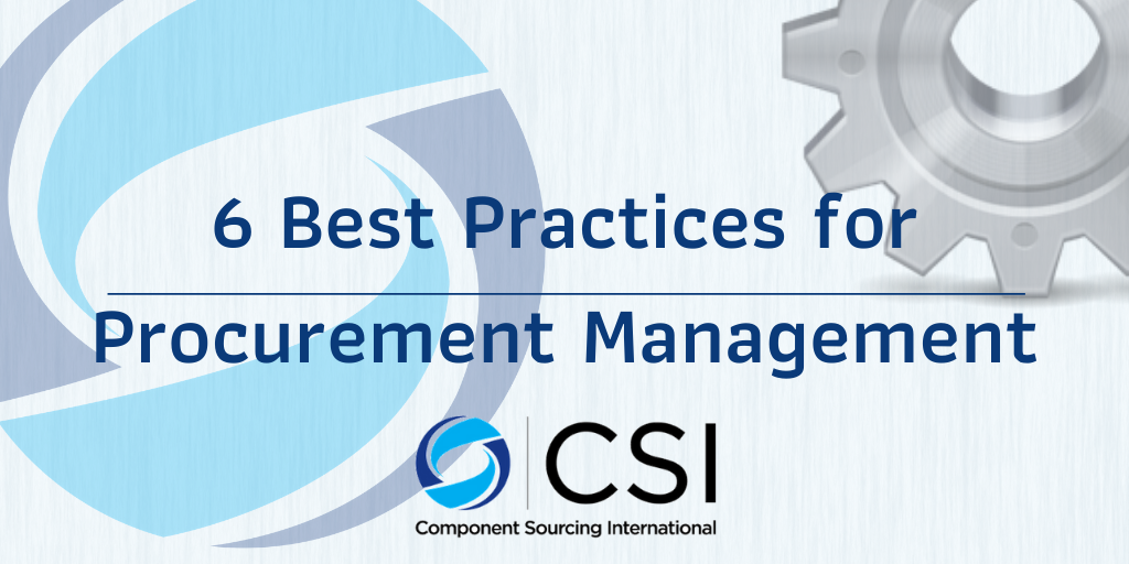6 Best Practices for Procurement Management