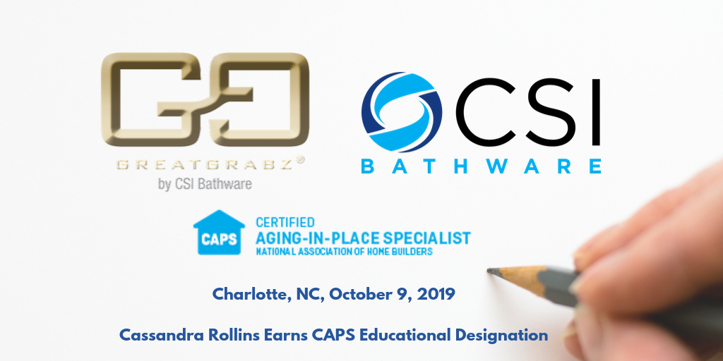 Charlotte, NC, October 9, 2019 Cassandra Rollins Earns Certified Aging-in-Place Specialist Educational Designation-1