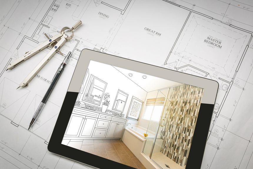 Interior Designer - Architect - Bathroom - Blueprint